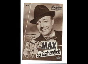"""C3754/ IFB 6046 Filmprogramm """"Max der Taschendieb"""" Heinz Rühmann"""