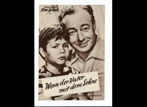 """C3753/ IFB 2869 Filmprogramm """"Wenn der Vater mit dem Sohne"""" Heimz Rühmann"""