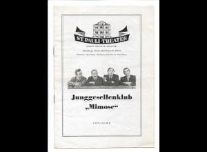 "C3739/ St. Pauli-Theater Hamburg Programm 1954 Junggesellenklub ""Mimose"""