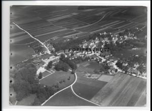 ZZ-0637/ Orsenhausen Schwendi seltenes Foto Luftbild 1937 18 x 13 cm