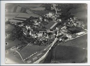 ZZ-0635/ Bussmannshausen - Schwendi seltenes Foto Luftbild 1937 18 x 13 cm