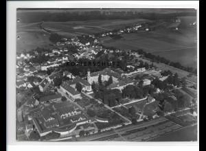 ZZ-0633/ Schussenried seltenes Foto Luftbild 1937 18 x 13 cm
