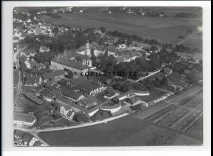 ZZ-0630/ Schussenried seltenes Foto Luftbild 1937 18 x 13 cm