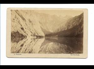 S2057/ CDV Foto Obersee bei Königsssee ca. 1865 Foto J. Scherle, Reichenhall