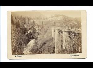 S2062/ CDV Foto Wasserfall in Jettenberg Foto J. Scherle, Reichenhall ca. 1865