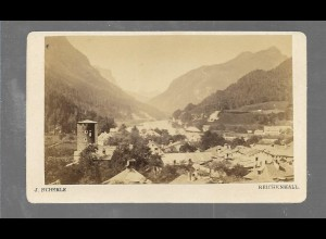 S2063/ CDV Foto Salachthal Foto J. Scherle, Reichenhall ca. 1865