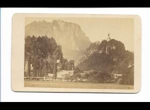 S2058/ CDV Foto St. Pankraz und Karlstein ca. 1865