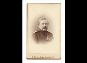 S2137/ CDV Foto Hauptmann von Sidow Orden EK, Atelier E. Biegner, Berlin ca.1880