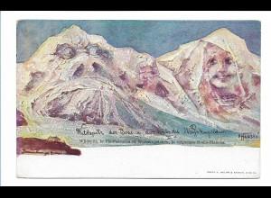 S2112/ E. Hansen Nolde Berge mit Gesichter AK Nr. 22 ca.1900