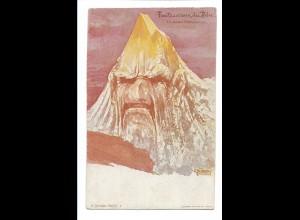 S2113/ E. Hansen Nolde Berge mit Gesichter AK Nr. 6 ca.1900