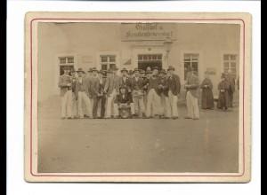 S2076/ Kabinettfoto Turnerbund zu Rosswein in Freyberg Gasthof Krumenheuersdorf