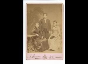 S2088/ Kabinettfoto Ehepaar mit Tochter - St. Petersburg Rußland ca.1900
