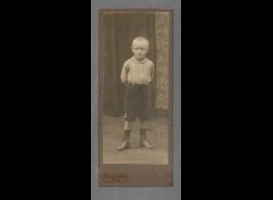 Y16288/ CDV Foto kleiner Junge Atelier Billström, Kiel ca.1910