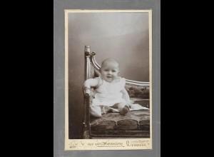 Y16292/ CDV Foto Baby Kind Atelier Samson, Wiesnaden ca.1900