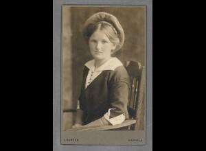 Y16342/ CDV Foto Mädchen Atelier L. Hansen, Kappeln ca.1910