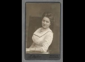 Y16347/ CDV Foto junge Frau Atelier P. Paulsen, Norderney ca.1910