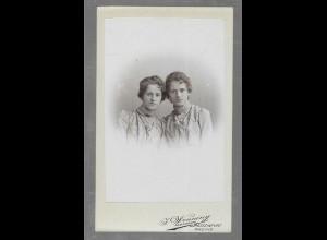 Y16353/ CDV Foto Frauen Schwestern Atelier Wenning, Burgsteinfurt 1900