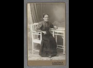 Y16354/ CDV Foto Frau Atelier J. Javurek, Schüttenhofen ca.1905