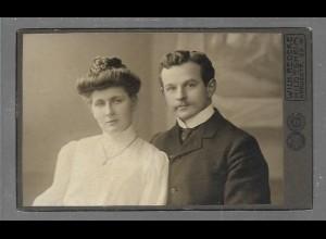 Y16356/ CDV Foto junges Ehepaar Atelier Wilh. Redeke, Hildesheim 1906