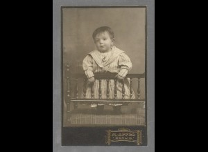 Y16358/ CDV Foto kleines Kind Atelier M. Appel, Berlin 1911