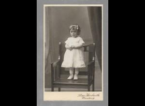 Y16366/ CDV Foto kleines Mädchen Kind Atelir Max Herrfurth, Merseburg ca.1905