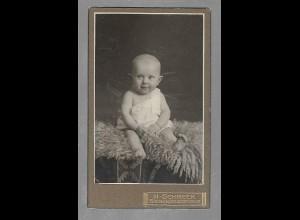 Y16367/ CDV Foto Baby Kind Atelier H. Schmeck, Siegen ca.1910