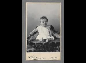 Y16371/ CDV Foto kl. Kind Baby Atelier C. Dietermann, Siegen ca.1900