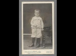 Y16372/ CDV Foto kleiner Junge Atelier A. Gudenrath , Heide Holstein ca.1900
