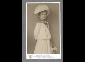Y16376/ CDV Foto Mädchen mit Hut Atelier F. Heuschkel, Schwerin ca.1900