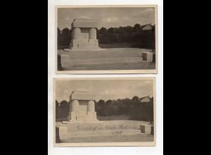 Y15071/ 2 x Foto AK Nisch Serbien Friedhof Denkmal der Deutschen u. Österreicher