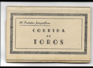 Y16450/ 19 x AK Leporello Corrida de Toros Toreros Stierkampf ca.1935 Spanien
