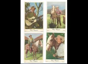 Y16456/ 4 x AK Schauspieler Roy Rogers Western ca.1960