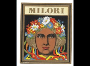 Y16467/ Zigarrenkistenaufkleber MILORI Jugendstil Litho Prägedruck ca.1910