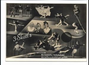 C3769/ 2 Skatt`s aus Mannheim Rollschuh-Artisten Variete Foto ca.1955