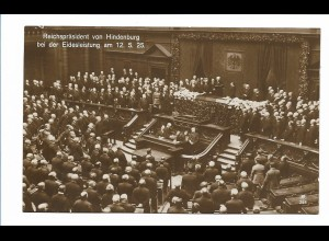 DP443/ Reichspräsident von Hindenburg Eidesleistung am 12.5.25 Foto AK