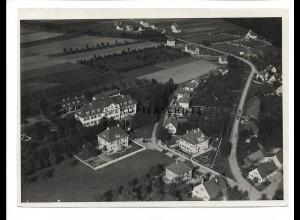 ZZ-0696/ Illertissen Heim seltenes Foto Luftbild ca. 1935 18 x 13 cm