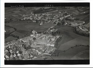 ZZ-0692/ Lichtenau b. Ansbach seltenes Foto Luftbild 1939 18 x 13 cm