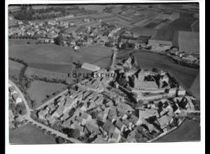 ZZ-0690/ Lichtenau b. Ansbach seltenes Foto Luftbild 1939 18 x 13 cm