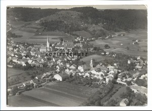 ZZ-0685/ Dietfurt an der Altmühl seltenes Foto Luftbild 1937 18 x 13 cm