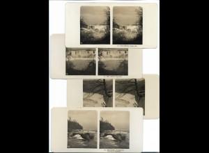 AK-2716/ 4 x NPG Stereofoto Nord-Amerika Niagara-Fälle ca.1905