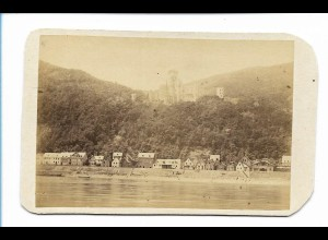 S2129/ CDV Foto Schloß Stolzenfels, Rheinseite ca.1860
