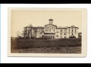 S2127/ CDV Foto Harz Hotel Zehnpfund und Bahnhof Thale ca.1860-65