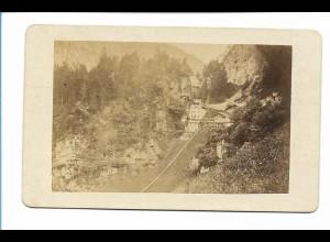 S2126/ CDV Foto Nesselgraben b. Reichenhall ca.1865