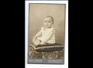 Y16475/ CDV Foto Baby Kind Atelier Emil Weise, Eisenach ca.1900