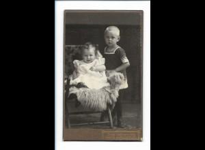 Y16476/ CDV Foto Kinder Baby Atelier Jos. Wenning, Rheine . Burgsteinfurt