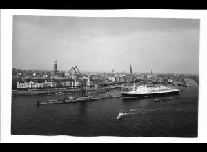 DP485/ Hamburg Hafen Dampfer Foto AK 50er