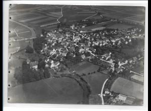 ZZ-0815/ Dellmensingen b. Erbach Foto seltenes Luftbild ca.1938 18 x 13 cm