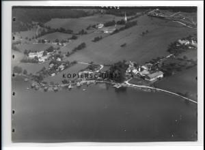 ZZ-0797/ Fischhausen am Schliersee Foto seltenes Luftbild 1937 18 x 13 cm