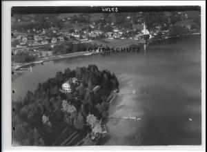 ZZ-0795/ Schwaig bei Schliersee Foto seltenes Luftbild 1936 18 x 13 cm
