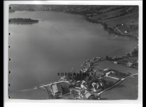 ZZ-0790/ Fischhausen am Schliersee Foto seltenes Luftbild 1937 18 x 13 cm